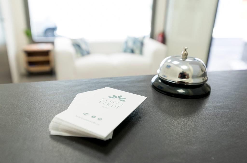 Recepción del Hotel Costa Verde