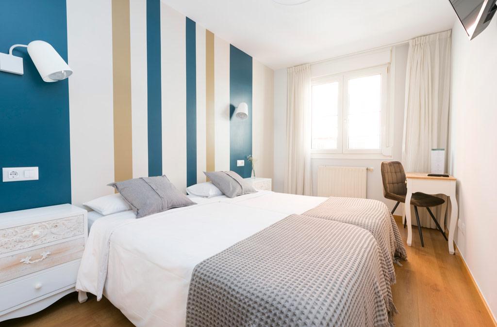 Habitación doble recien reformada en Gijón, Hotel Costa Verde