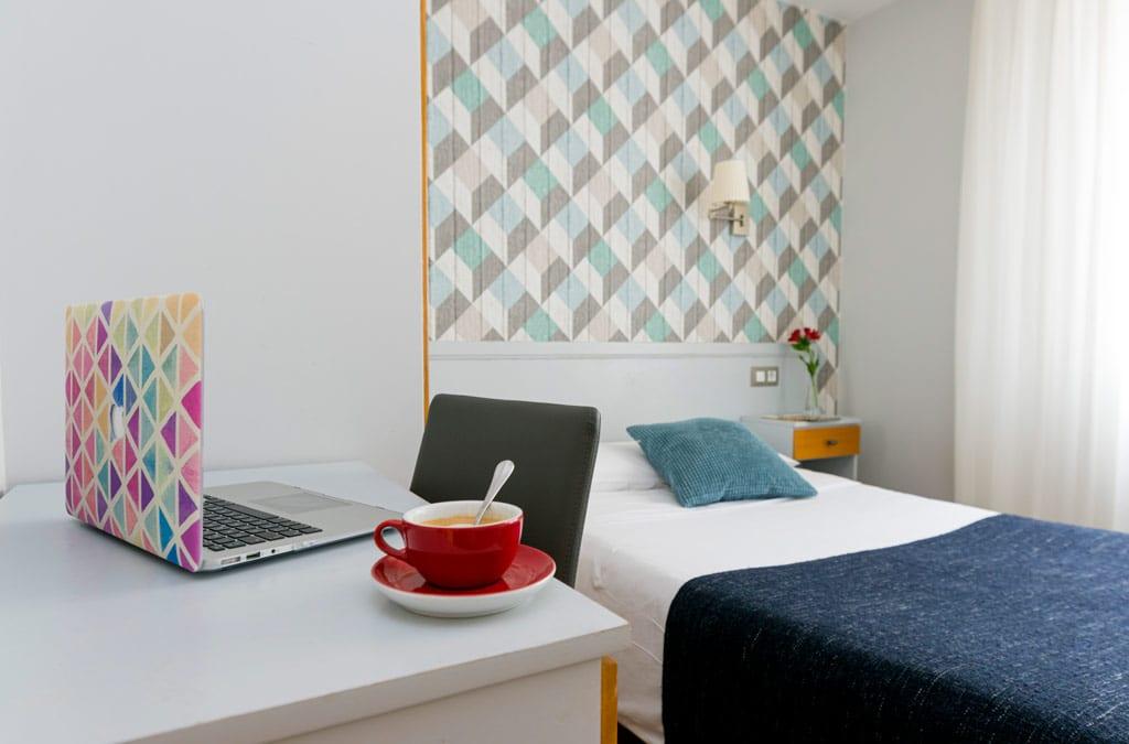 Habitación individual en Hotel Costa Verde Gijón