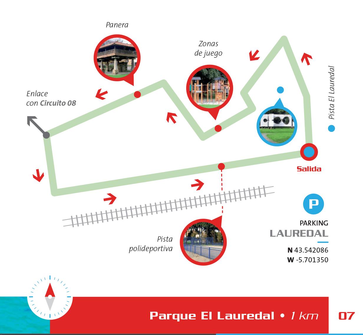 Detalle del circuito en el Lauredal