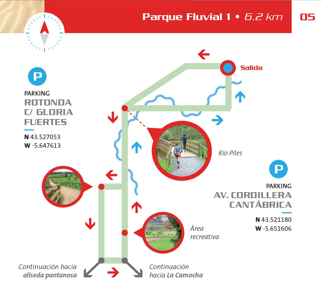 Detalle del circuito en el Parque Fluvial