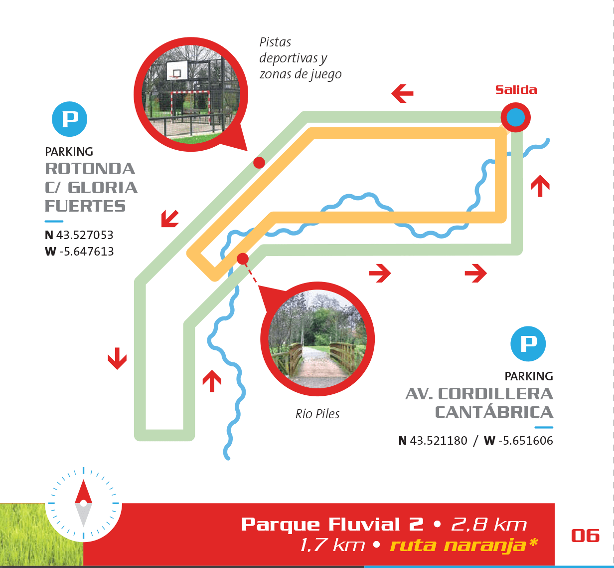 Detalle del circuito en el Parque Fluvial, Bicis y Running